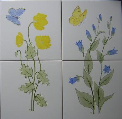 flower tiles wildflower tile panels ceramic tile murals